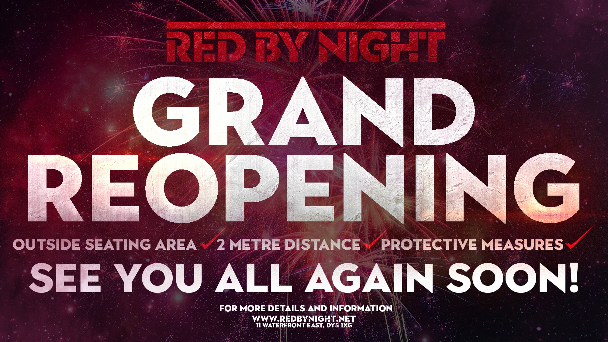 Red By Night reopening